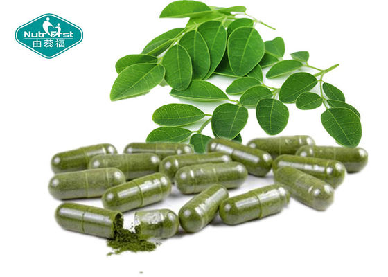 China 500mg Moringa Oleifera Capsules / 100% Natural Appetite Suppressant For Weight Loss supplier