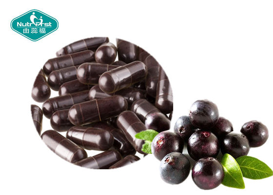 Acai Berry Antioxidant Dietary Supplement Capsules Support Fat Metabolism