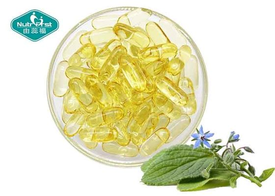 Oval Omega 3 Fish Oil Capsules Supplements / Borage Oil Capsules GLA For Women'S Health