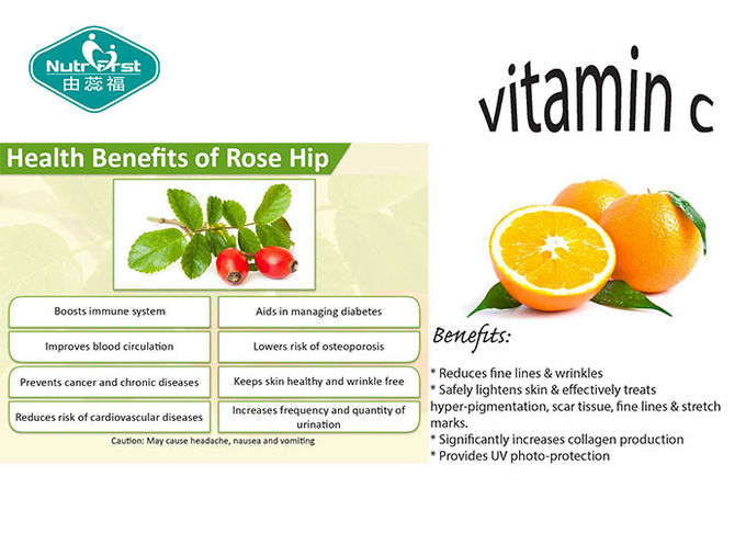 Healthy Vitamin C Dietary Supplement , Vitamin C Soluble Tablets With Rose Hips