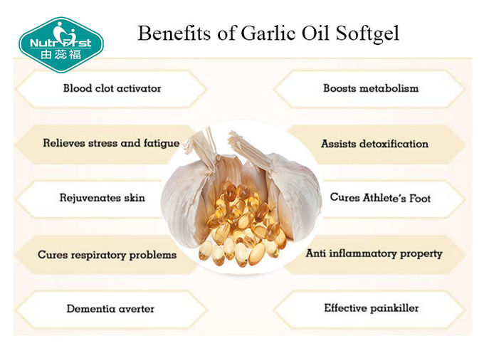 Odorless Garlic Extract 1000mg Rapid Release Softgel Cardiovascular Health Support
